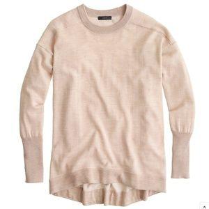 J. CREW Merino-Cotton Tunic Sweater